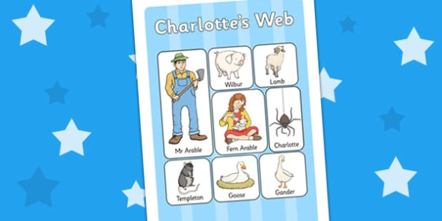 Charlotte's Web Vocabulary Mat - vocab mat, visual aid, stories