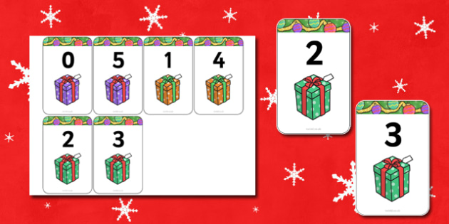 Number Bonds to 5 Matching Cards (Presents) - Number Bonds, presents, present, Matching Cards, Number Bonds to five, counting, number recognition, christmas, xmas