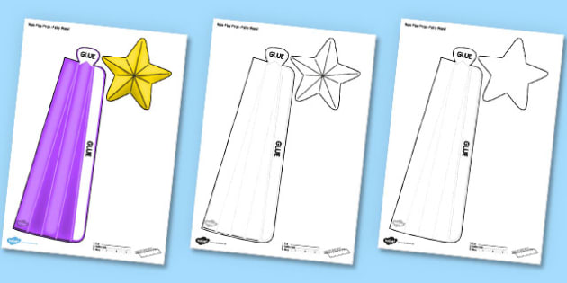 Fairy Wand Printable Role Play Prop - fairy wand, role-play, prop