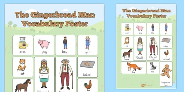 The Gingerbread Man Vocabulary Poster -australia, display, traditional tales, words, visual aid