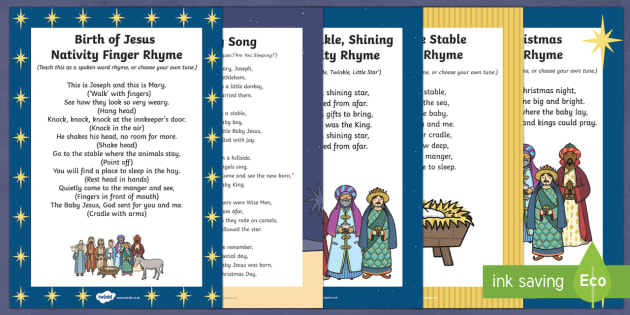 Nativity Songs and Rhymes Resource Pack