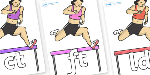 Final Letter Blends on Hurdles - Final Letters, final letter, letter blend, letter blends, consonant, consonants, digraph, trigraph, literacy, alphabet, letters, foundation stage literacy