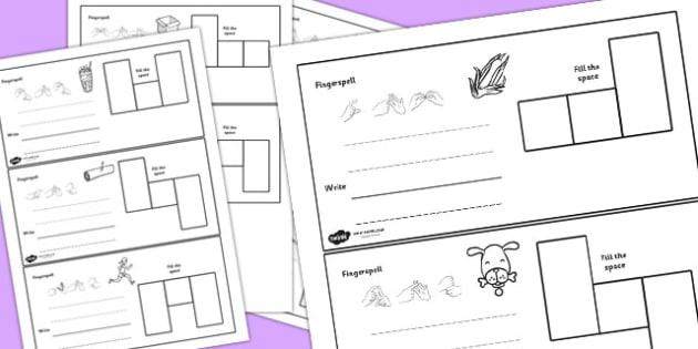CVC Spelling Cards British Sign Language 'o' - cvc, spelling cards, sign language