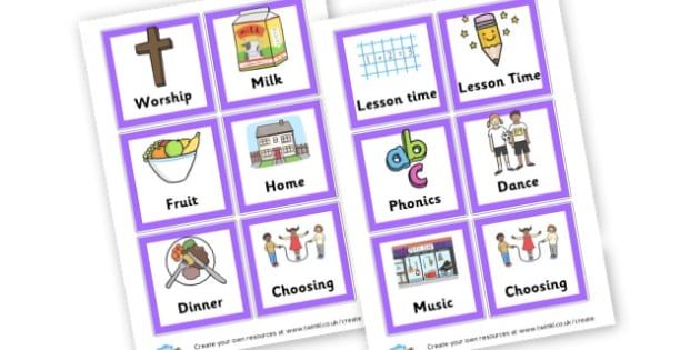 visual Timetable - Visual Timetables Primary Resources, visual, timetables, routine