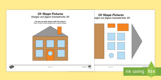 Pictures Italian Translation - 2D Shape Activity Pictures - 2D shapes ...