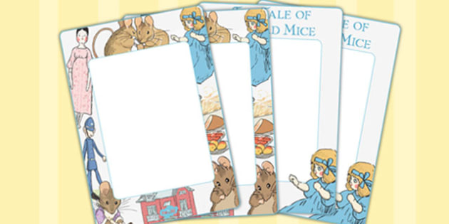 The Tale of Two Bad Mice Editable Note - two bad mice, editable note