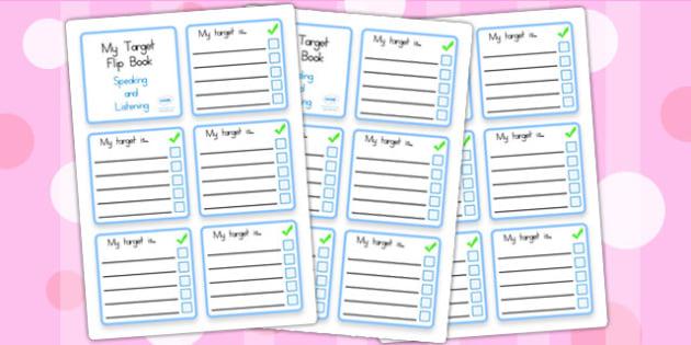 Personal Target Flip Book - target, book, behaviour management