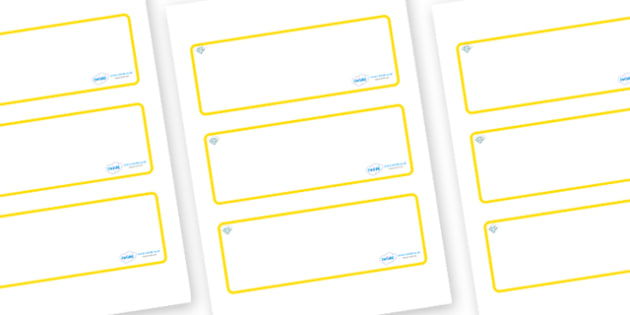 Diamond Themed Editable Drawer-Peg-Name Labels (Blank) - Themed Classroom Label Templates, Resource Labels, Name Labels, Editable Labels, Drawer Labels, Coat Peg Labels, Peg Label, KS1 Labels, Foundation Labels, Foundation Stage Labels, Teaching Labe