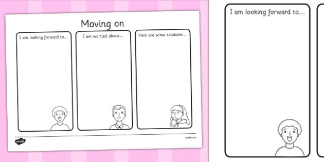 Moving On Worksheet - moving on, moving on writing frame, moving on writing template, new school worksheet, new class worksheet, moving worksheet, ks2