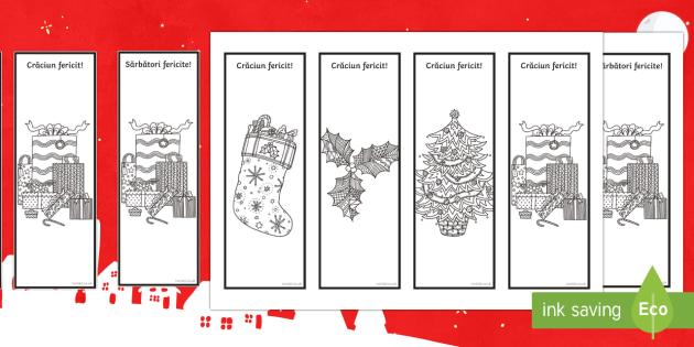 Crăciun Semne de carte mindfulness - crăciun, sarbatori, sărbători de iarnă, română, semne de carte, materiale, română, Romanian