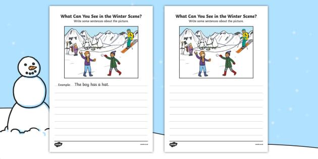 Winter Scene Writing Stimulus Picture - winter scene, writing stimulus, picture, writing, write, stimulus, winter, scene, activity
