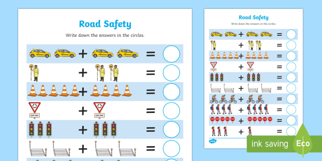 Road Safety Up to 10 Addition Sheet