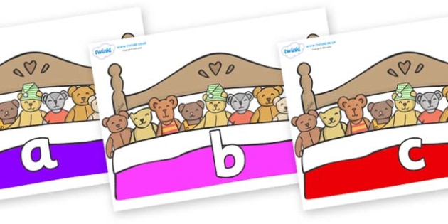 Phase 2 Phonemes on Ten in a Bed - Phonemes, phoneme, Phase 2, Phase two, Foundation, Literacy, Letters and Sounds, DfES, display