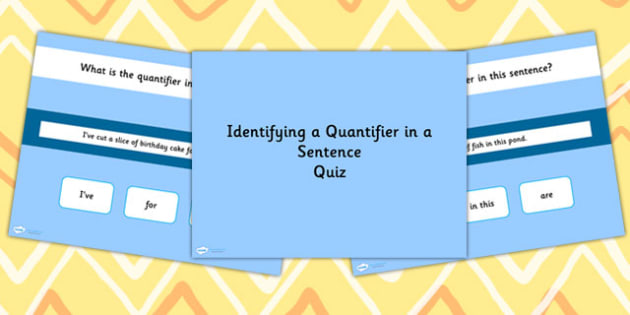 Identifying a Quantifier in a Sentence SPaG Grammar PowerPoint