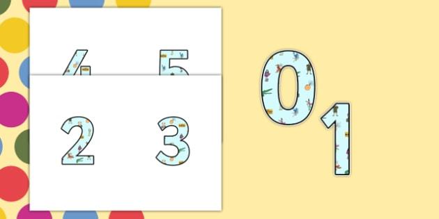 Roald Dahl Small Display Numbers - Roald Dahl, Display Numbers, Roald Dahl Display Numbers, Small Display Numbers