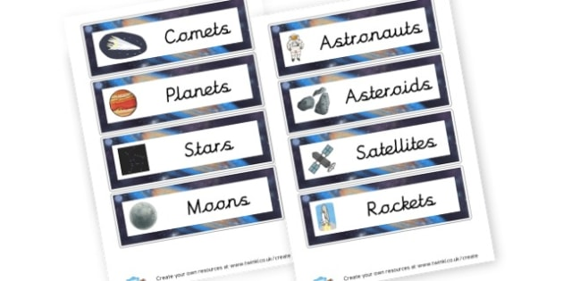Space Topic Group Labels - Space Group Signs Primary Resources,  Group Sign, Classroom, Space