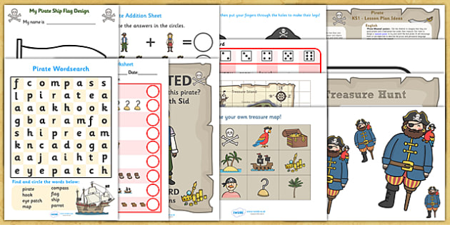 KS1 Pirates Lesson Plan Ideas and Resources Pack - pirates, KS1