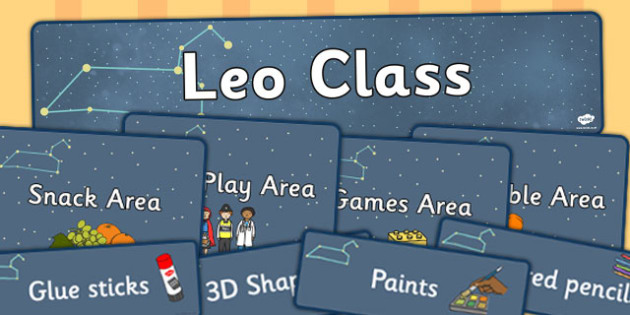 Leo Class Constellation Themed Classroom Display Pack - display