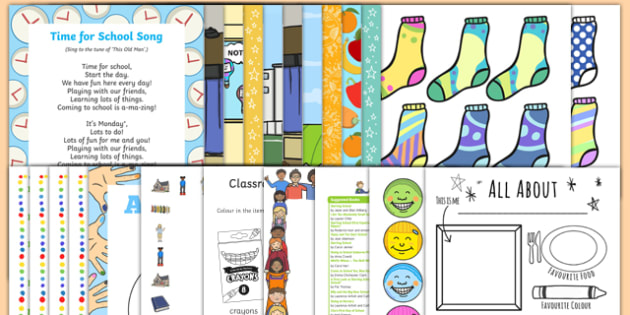 EYFS Start of the School Year Activity Pack