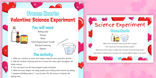 Frozen Hearts Valentine Science Experiment - Science, Experiment, Valentines, heart