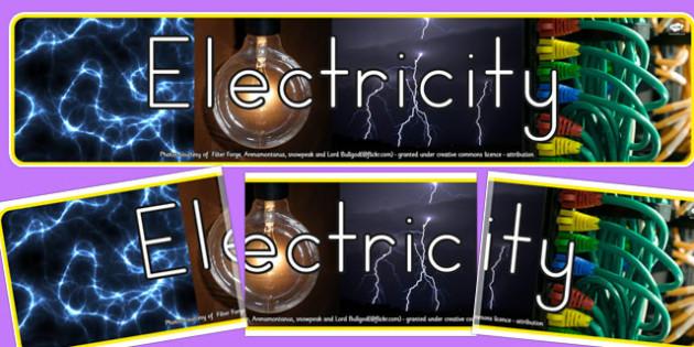 Electricity Photo Display Banner - australia, electricity, photo