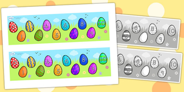 Missing Number Number Line 0 10 Easter - counting aid, easter