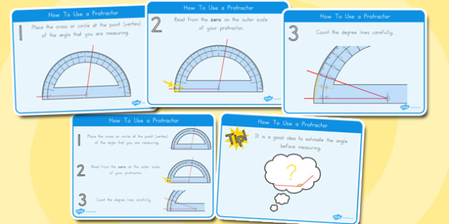 How to Use a Protractor Display Posters - australia, protractor, display