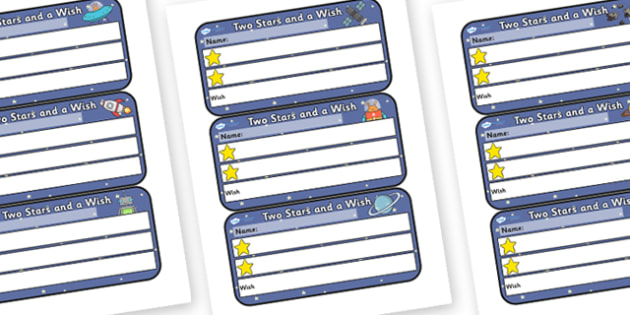 Space Themed Two Stars and a Wish Comment Labels - two stars and a wish, two stars and a wish labels, two stars and a wish comment labels, space, comments