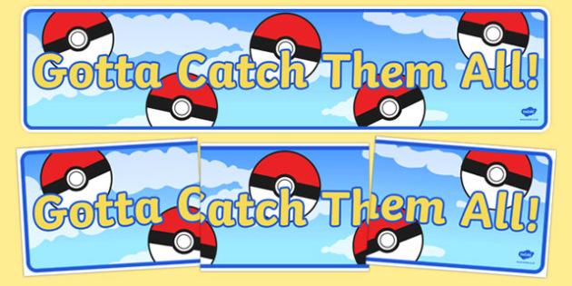 Gotta Catch Them All! Display Banner