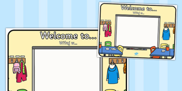Welcome To Sign Polish Translation - display, classroom, organisation, management, new starters, ks1, ks2, early years, key stage 1,