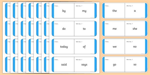 Year 1 Common Exception Words Loop Cards - year 1, common exception words, loop cards, common exception, words