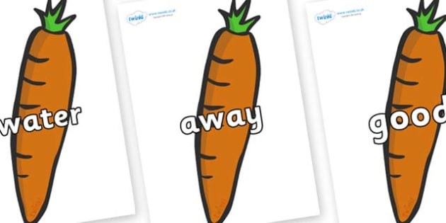 Next 200 Common Words on Carrots - Next 200 Common Words on  - DfES Letters and Sounds, Letters and Sounds, Letters and sounds words, Common words, 200 common words