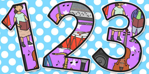 Music Themed Display Numbers - Music, Display, Numbers, Themed