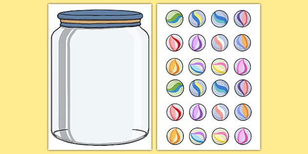 Marble Jar Reward Display - marble jar, reward, display, poster, fill