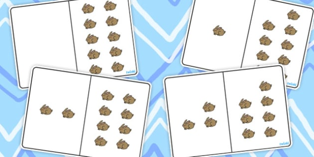 Brown Rabbit Counting Number Bonds to 10 - number, bonds, count
