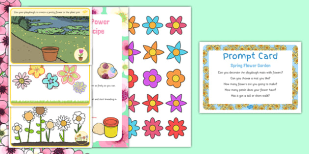 Spring Flower Garden Busy Bag Prompt Card and Resource Pack - Gardens, flowers, spring, eyfs