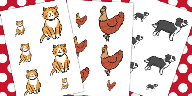 The Little Red Hen Size Ordering - Little, Red, Hen, Size, Order