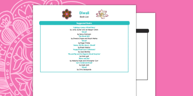 Diwali Book List