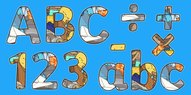 Everyday Materials Themed Display Letters and Numbers Pack - Science lettering, Science display, Science display lettering, everyday materials, display lettering