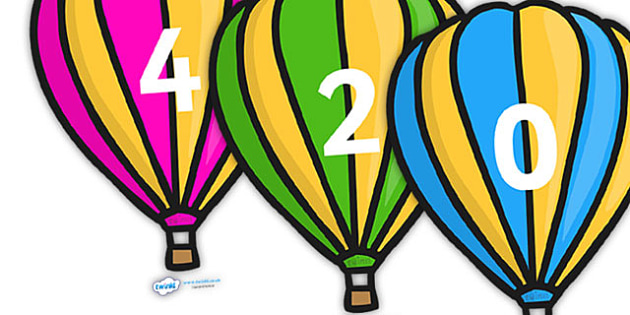 Counting in 2s on Hot Air Balloons (Stripes) - Counting, Hot Air Balloon, Numberline, Number line, Counting on, Counting back, even numbers, foundation stage numeracy, counting in 2s