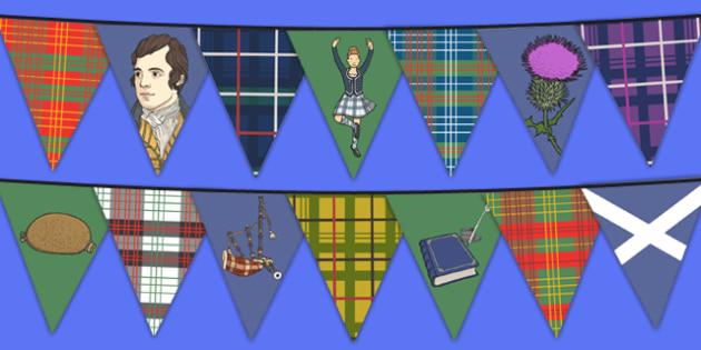 Burns Night Display Bunting - bunting, decorations, display, display bunting, burns night bunting, scottish bunting, scotland, scottish, burns night, classroom decorations, for decorating your classroom