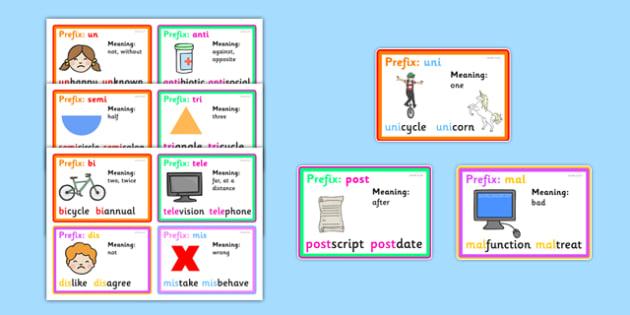 Prefix Word Cards With Definitions - prefix cards, prefix meanings, prefix flash cards, prefixes, prefix, prefix aids, what prefixes mean, prefix definitions