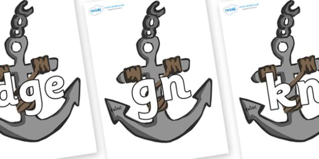 Silent Letters on Anchors - Silent Letters, silent letter, letter blend, consonant, consonants, digraph, trigraph, A-Z letters, literacy, alphabet, letters, alternative sounds