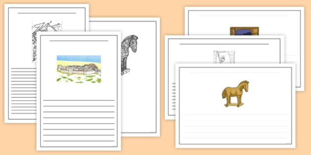 The Trojan Horse Writing Frames - the trojan horse, troy, ancient greece, writing frame
