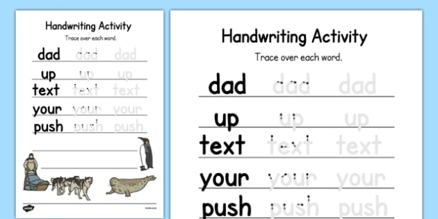Antarctica Themed Editable Handwriting Practice - letter formation, writing, polar, snow, ice, geography