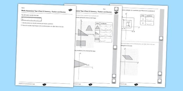 Year 6 Maths Assessment Term 3 Geometry Position and Direction - Key Stage 2, KS2, Maths, assessment, geometry, position, direction