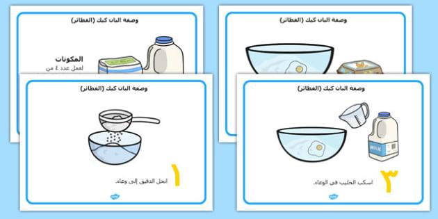 أوراق مواصفات البان كيك - مواصفات الفطائر المحلاة، وسائل تعليمية