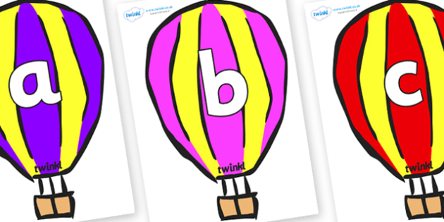 Phoneme Set on Hot Air Balloons (Multicolour) - Phoneme set, phonemes, phoneme, Letters and Sounds, DfES, display, Phase 1, Phase 2, Phase 3, Phase 5, Foundation, Literacy