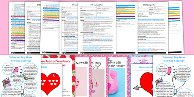 EYFS Valentine's Day Adult Input Planning and Resource Pack - adult led