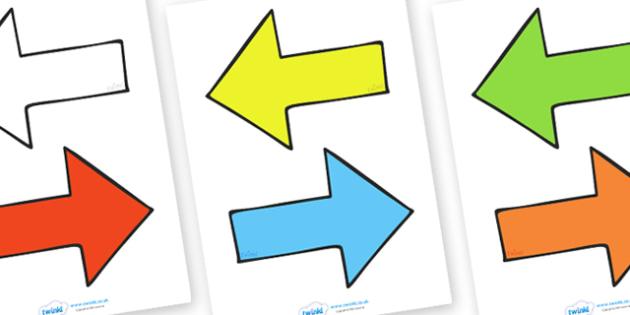 Editable Arrows - arrow, editable, display arrow, display, arrows, editable display arrows, colour arrows, colouful arrows